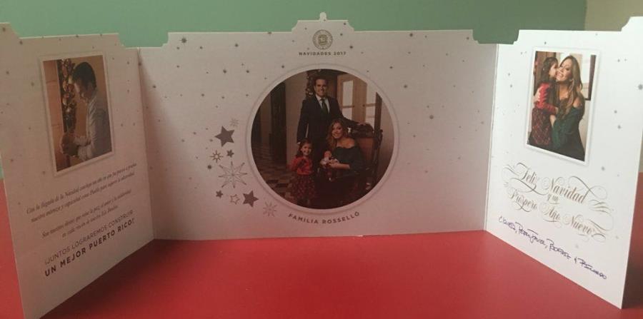 Esta es la primera postal de Navidad del gobernador Ricardo Rosselló. (Suministrada) (horizontal-x3)