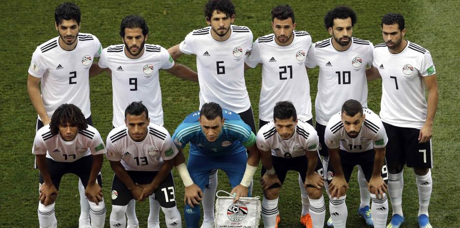 Selección de Egipto durante un partido del Mundial. (AP) (horizontal-x3)