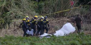 Impactante escena de avión accidentado en Cuba