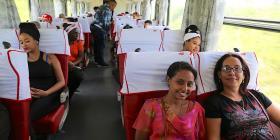 Una trillita en el nuevo tren chino-ruso-cubano que cruza Cuba