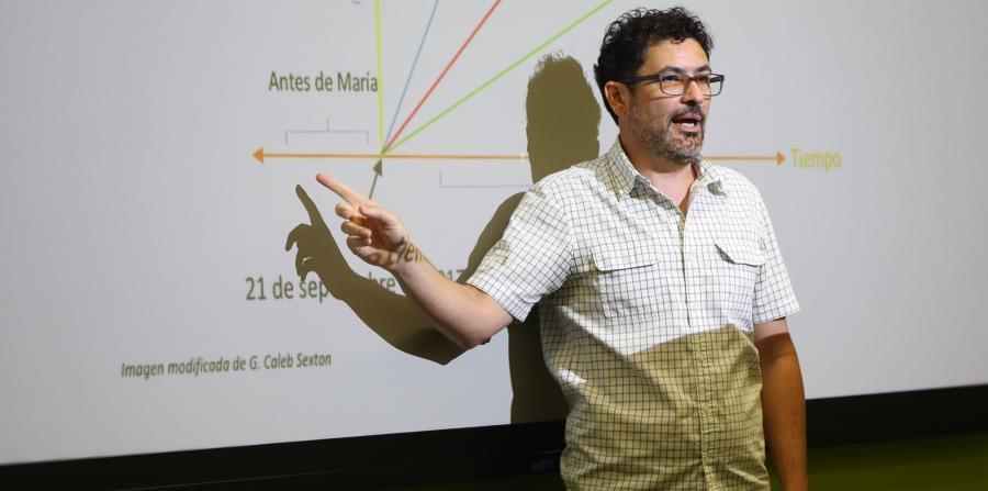 In the picture professor Roberto Vélez. (horizontal-x3)