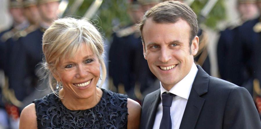 Brigitte Trogneux y Emmanuel Macron (horizontal-x3)