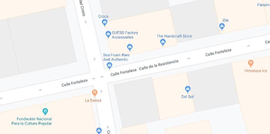 La calle de la Resistencia aparece en Google Maps