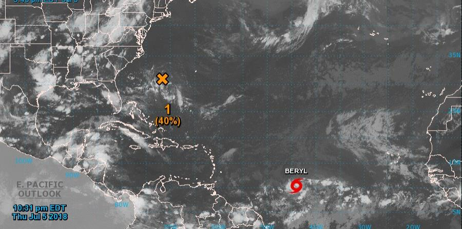 Imagen satelital de Beryl. (horizontal-x3)