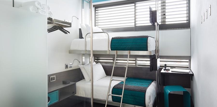 El Pod, en Nueva York, se ha convertido en un hotel muy popular entre los jóvenes. (Suministrada)