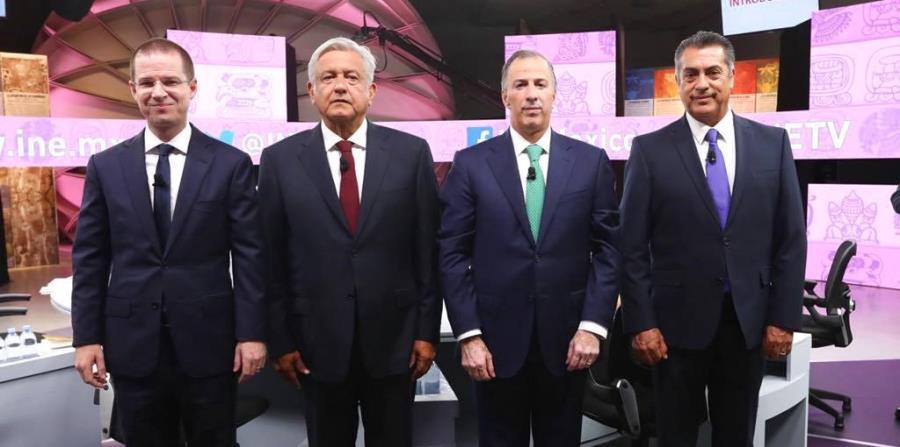 Los candidatos a la Presidencia de México: Ricardo Anaya, Andrés Manuel Lopez Obrador, José Antonio Meade y Jaime Rodriguez (horizontal-x3)