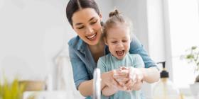 Practica las medidas de higiene con tus hijos