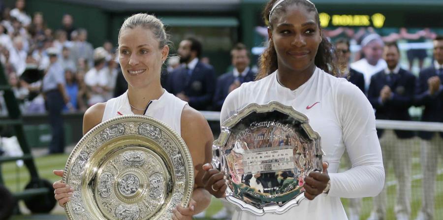 La campeona Angelique Kerber  y subcampeona Serena Williams. (AP) (horizontal-x3)
