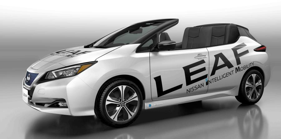 Nissan LEAF convertible. (horizontal-x3)