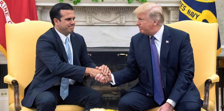 Rosselló y Trump tuvieron un encuentro en la Casa Blanca el pasado octubre de 2017. (GFR Media) (horizontal-x3)