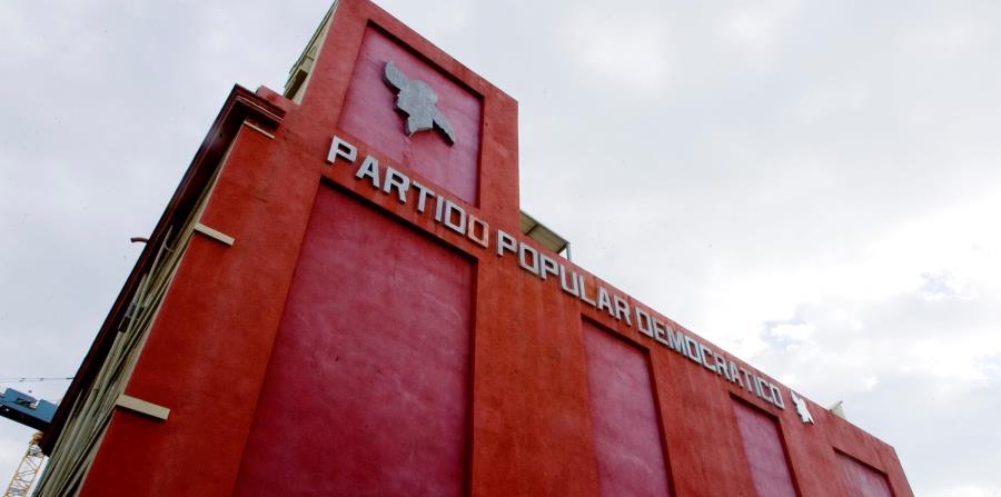 Vista trasera de la sede del Partido Popular Democrático en Puerta de Tierra. (GFR Media) (horizontal-x3)