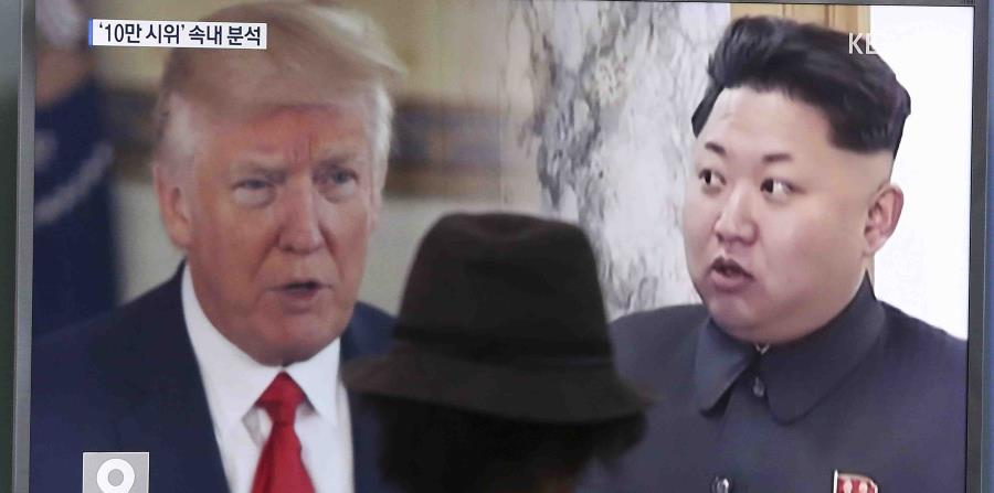 Donald Trump, y el líder norcoreano, Kim Jong-un, han protagonizado una escalada dialéctica que ha empeorado las ya tensas relaciones entre ambos países, a raíz del lanzamiento de pruebas de misiles por parte de Pyongyang. (horizontal-x3)