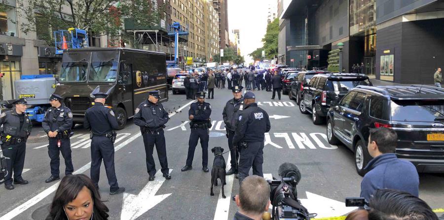 César Sayoc también envió paquetes bomba a las oficinas del programa de noticias por cable CNN en el Time Warner Center en la ciudad de Nueva York. (AP / Kevin Hagen) (horizontal-x3)