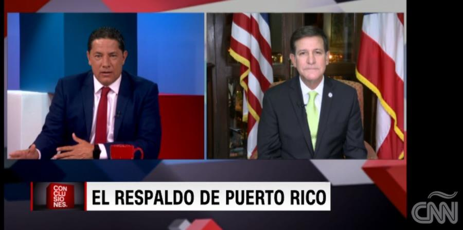 Fernando del Rincón entrevista a Luis Rivera Marín, secretario de Estado de Puerto Rico. (horizontal-x3)