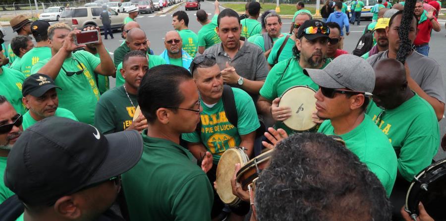 Los miembros del sindicato han estado combativos en los últimos días contra las medidas presentadas en la Legislatura para alterar los beneficios de los empleados públicos. (horizontal-x3)
