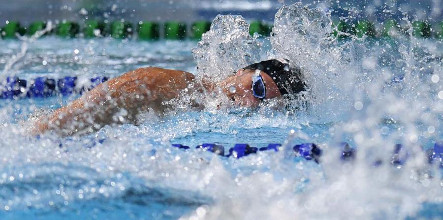 Jarod Arroyo alcanzó oro en natación en los 200 metros combinados. (horizontal-x3)