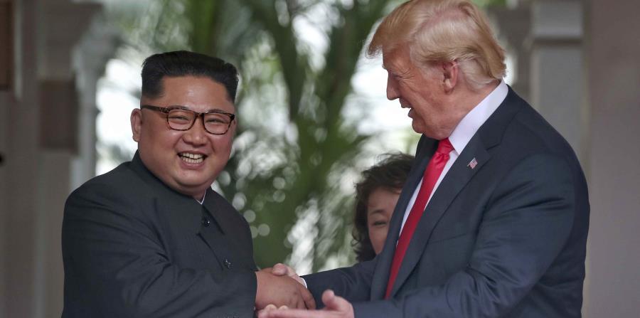 El presidente de Estados Unidos, Donald Trump, durante su cumbre con el líder norcoreano Kim Jong-un. (horizontal-x3)