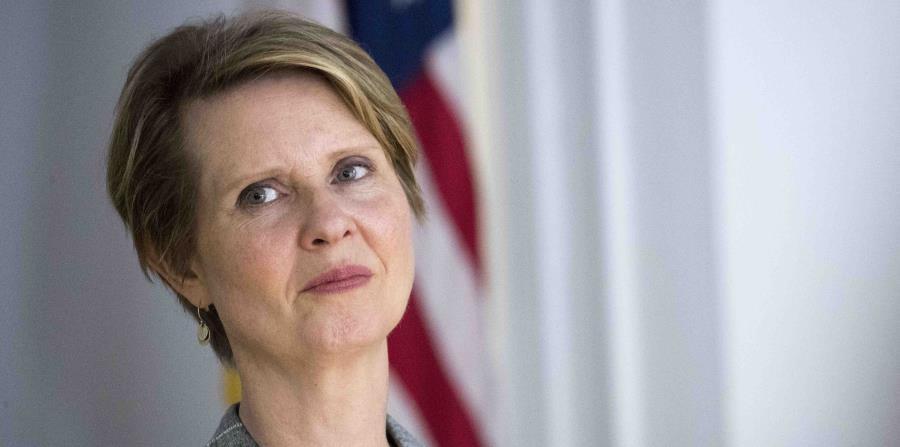 La actriz y candidata a gobernadora de Nueva York Cynthia Nixon en un evento en Nueva York el 13 de junio del 2018. (AP) (horizontal-x3)