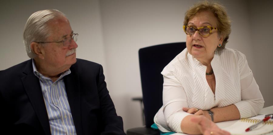 El presidente y la directora ejecutiva de la Red de Fundaciones, Rafael Cortés y Janice Petrovich, explicaron los esfuerzos de recaudación de fondos. (horizontal-x3)