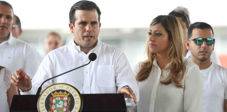 Ricardo Rosselló Nevarez, gobernador de Puerto Rico; y Beatriz Rosselló, primera dama. (GFR Media) (horizontal-x3)