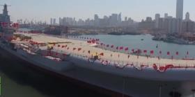 El primer portaaviones de fabricación china entra en acción