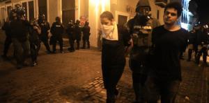 Arrestan a cinco personas durante la manifestación frente a La Fortaleza