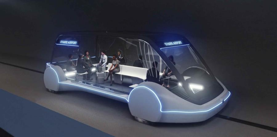 Imagen del vehículo que formará parte del transporte subterráneo. (horizontal-x3)