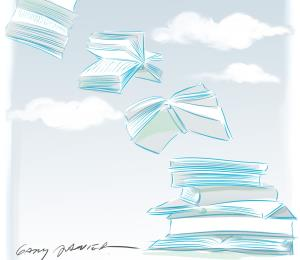 Libros en el tejado