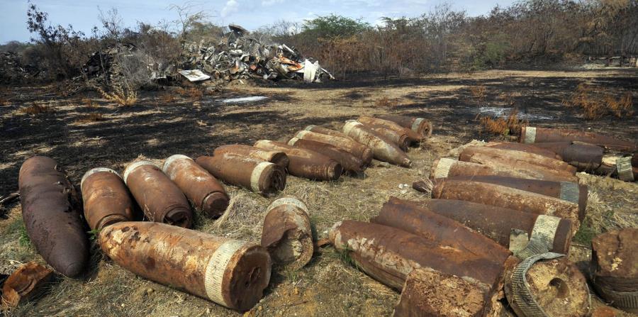 Más de 104,000 municiones han sido recogidas por la Marina de Guerra estadounidense en Vieques desde el cese de los entrenamientos militares el 1 de mayo de 2003. (horizontal-x3)
