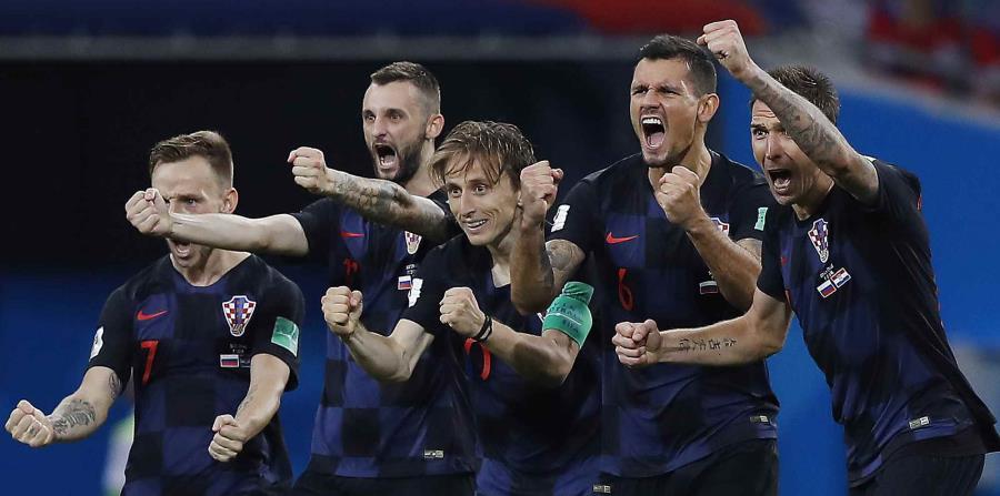 Los croatas soportaron el desgaste emocional que implican dos tandas de penales de las que emergieron victoriosos, algo que no le había pasado a equipo alguno desde 1990 en un mundial. (AP) (horizontal-x3)