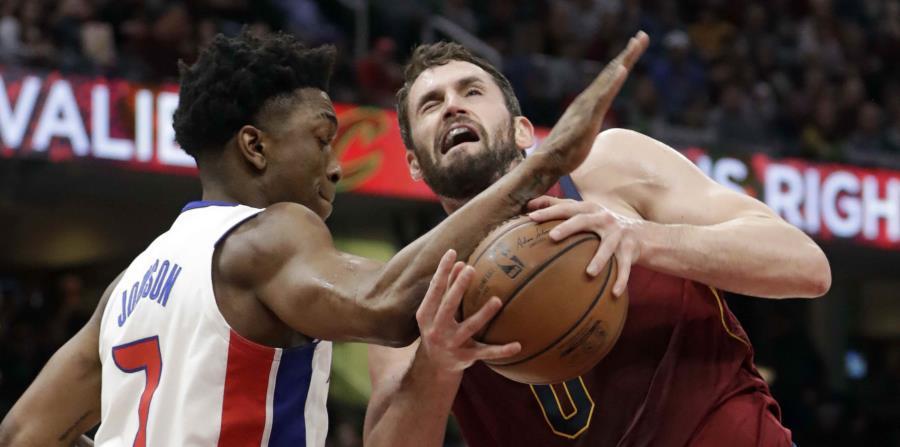 Kevin Love y los Cavaliers jugaban por segundo partido al hilo contra los Pistons. (AP) (horizontal-x3)