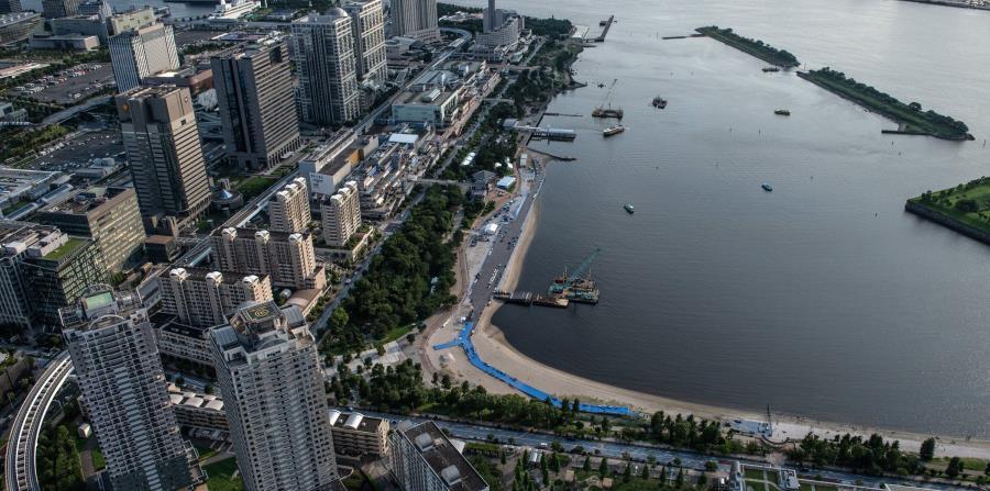 El Odaiba Marine Park será la sede de los eventos acuáticos y de triatlón en la Olimpíadas Tokio 2020.
