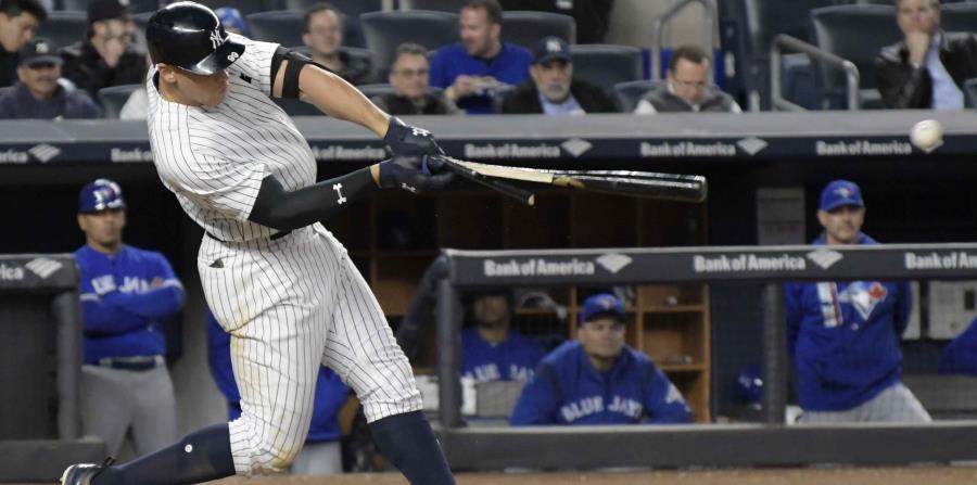 Aaron Judge rompió el bate al conectar un hit en la séptima entrada (horizontal-x3)