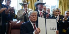Demócratas tratan de anular primer veto de Donald Trump