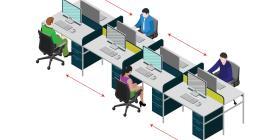 Cambia el diseño de espacios físicos de oficina y comercio