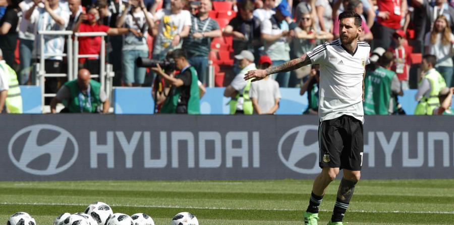El futbolista argentino, Lionel Messi (horizontal-x3)