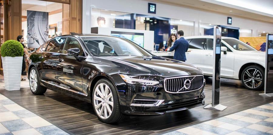 Exhibición de Volvo en el Puerto Rico International Auto Show.