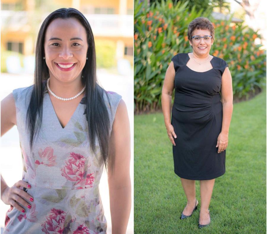 En la foto, Deborah Jordán Ortiz, directora de Recursos Humanos y Ylia Noemí Rivera O'Neill, ejecutiva de Ama de Llaves. (Suministradas) (semisquare-x3)