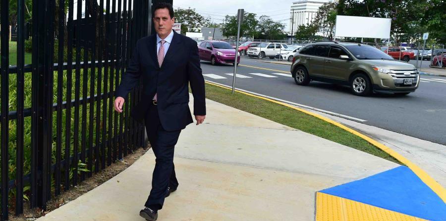 Héctor Martínez a su llegada al Tribunal Federal. (horizontal-x3)
