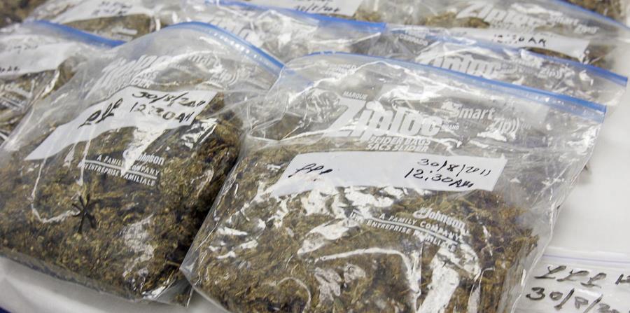 En la intervención se ocupó marihuana, cocaína, cápsulas de crack, picadura de marihuana (horizontal-x3)
