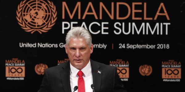"""Díaz-Canel: """"No puede haber desarrollo sin paz y estabilidad"""""""