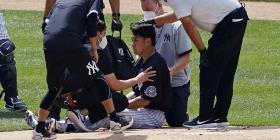 Masahiro Tanaka se recupera tras ser golpeado en la cabeza y es dado de alta del hospital