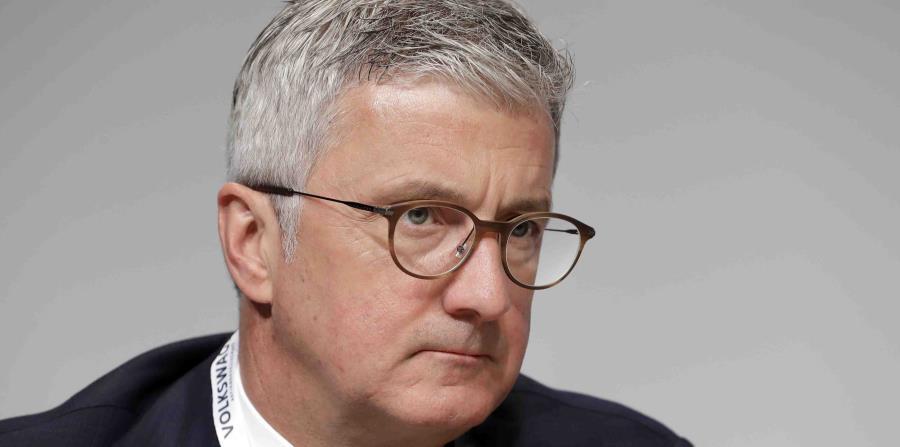 director general de Audi, Rupert Stadler, en una reunión de accionistas de Volkswagen en Berlín, Alemania. (AP (horizontal-x3)