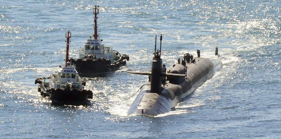 Imagen del USS Michigan, desplegado hace meses en la base naval de Busan, en Corea del Sur. (horizontal-x3)