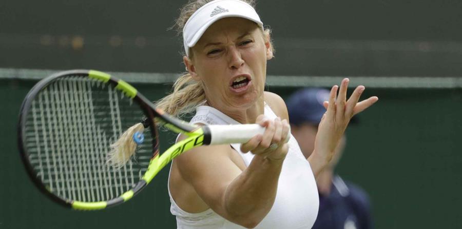 Wozniacki nunca ha llegado a los cuartos de final de Wimbledon. (AP) (horizontal-x3)