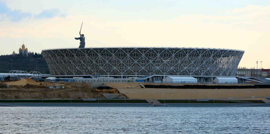La Arena Volgogrado se construyó sobre un campo de batalla. (AP / Dmitriy Rogulin) (horizontal-x3)
