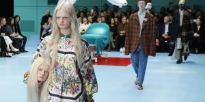"""Modelos """"decapitadas"""" de Gucci y los años 60 de Moschino"""
