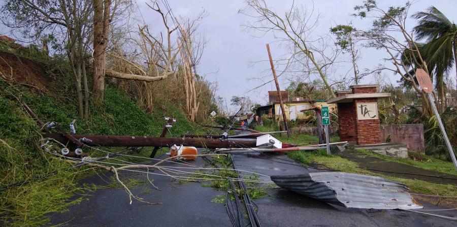 El paso del huracán María por Puerto Rico causó un sinnúmero de daños. (horizontal-x3)