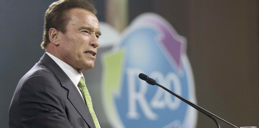 Schwarzenegger habla en la inauguración de la R20 Austrian World Summit. (horizontal-x3)