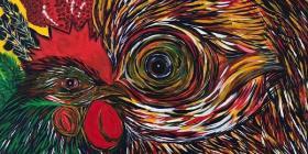 Simbología pictórica a través de gallos y gallinas